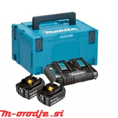 Makita LXT SET v kovčku Makpac 3, 2 x BL1850B z dvojnim polnilnikom DC18RD
