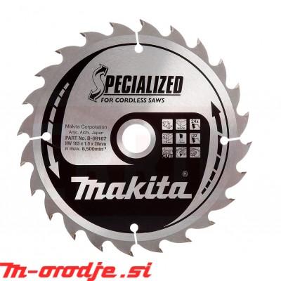 Makita žagin list 165x20/24Z TCT Specialized B-09167