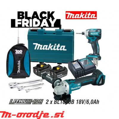 Makita DTD148RGE + DGA504 akumulatorski set BLACK FRIDAY 2020