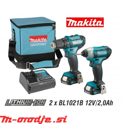 Makita CLX224SA set 10,8V/2,0Ah CTX