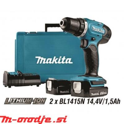 Makita DDF343SYE akumulatorski vrtalni vijačnik 14,4V
