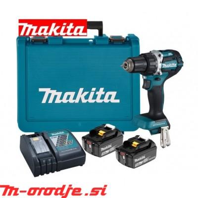 Makita DDF484RTE akumulatorski vijačnik, 18V, BL 5,0Ah
