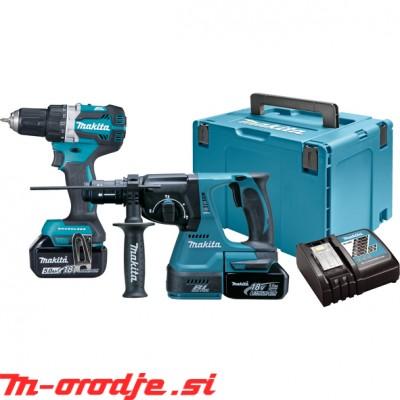 Makita DLX2191TJ akumulatorski set, 18V, BL