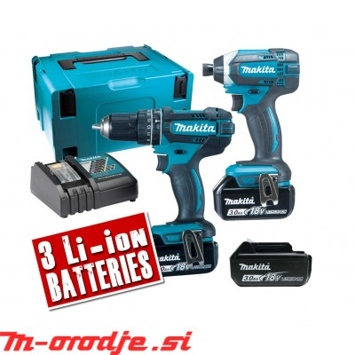 Makita DLX2131JX1 akumulatorski set