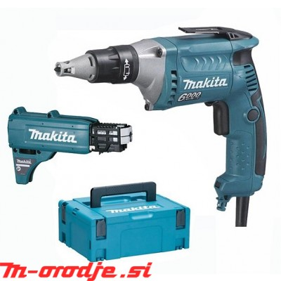 Makita FS6300JX2 električni suhomontažni vijačnik + podajalnik
