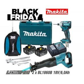 Makita DTD148RGE + DJR186Z akumulatorski set BLACK FRIDAY 2020